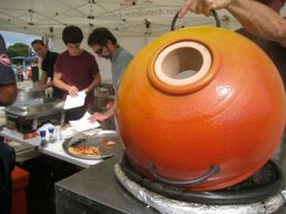 local potter Cameron with his tandoor did a great trade