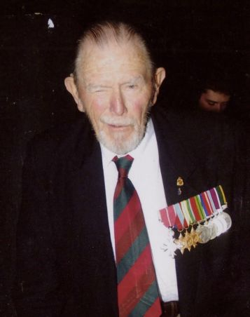 Don wearing his medals