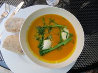 pumpkin soup at the Old Mill cafe