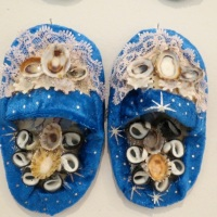 Shellworked Slippers