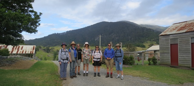 our walking party at the base of Gulaga this morning