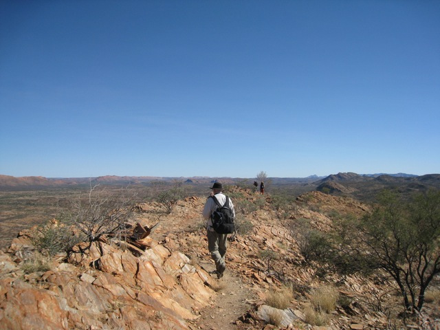 on the larapinta trail, central australia