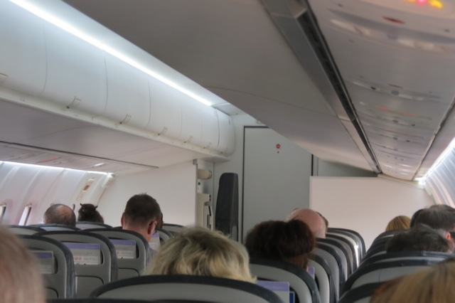 inside the small ATR-72 on the Sydney-Canberra flight