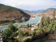 road following river, Bhutan