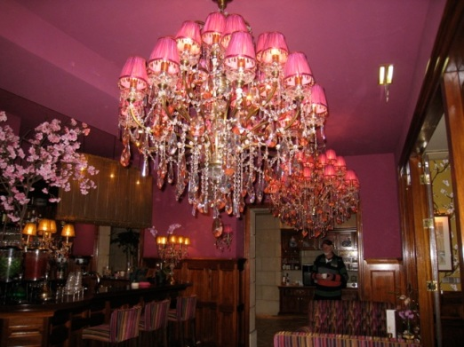 gaudy chandeliers, amsterdam
