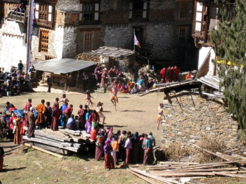 festival at a small eastern dzong