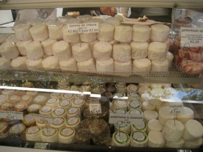 goat's cheese in Amsterdam market