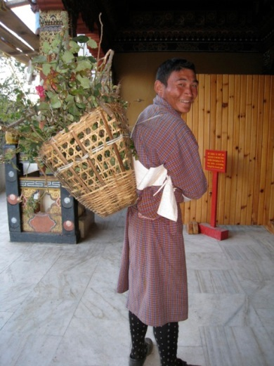 gardener at the Thimphu Dzong