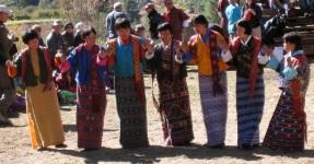 women dancing at festival