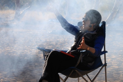campfire at Tjilpa, NT
