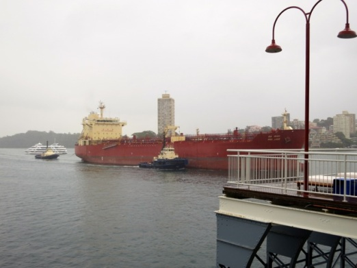 cargo ship going out