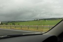 green fields near Berry