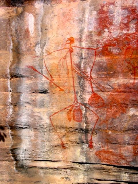 Mabuyu hunting figure, Ubirr, Kakadu NP, NT