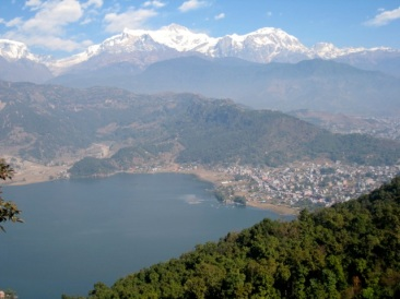 looking down on Pokhara
