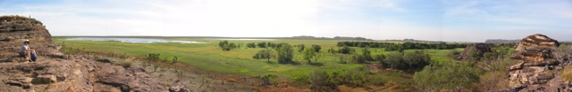 panorama from Ubirr Rock