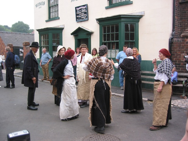 Costumed staff at Dudley Black Country LIving Museum
