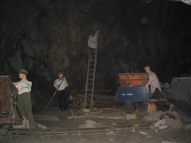 mining coal in underground canals