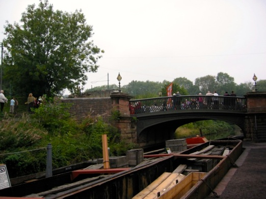 canal boats and bridge
