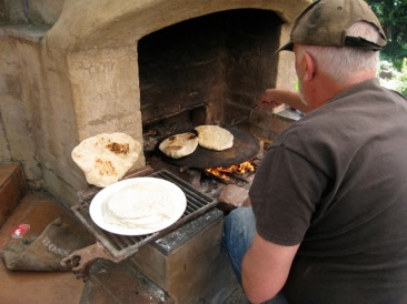 cooking pitta bread