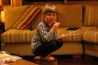 now who has the drum sticks?