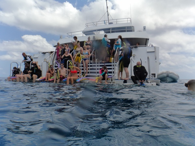 easy swim-off deck of Calypso