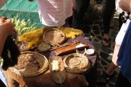 possum skin, baskets, artifacts