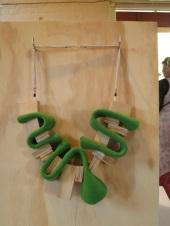timber and neoprene neck piece