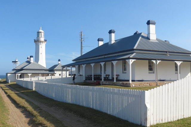 Green Cape cottages and lighthouse