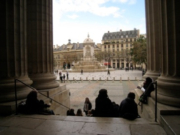 from the portico of Saint Sulpice Paris