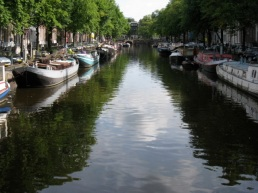 clouds in the canal