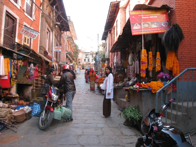 near the Stupa, Kathmandu