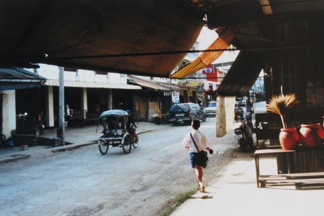 main street Chiang Khong, Thailand