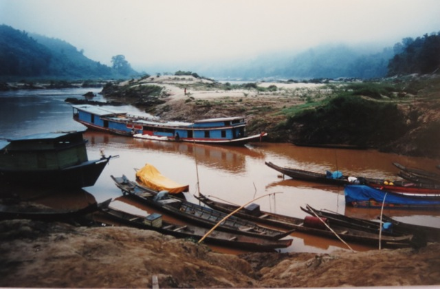 morning on the Mekong, we were to travel on speedboats to Pak Beng