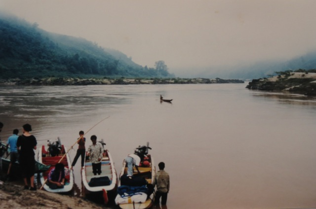 ready to brave the mighty Mekong, early morning
