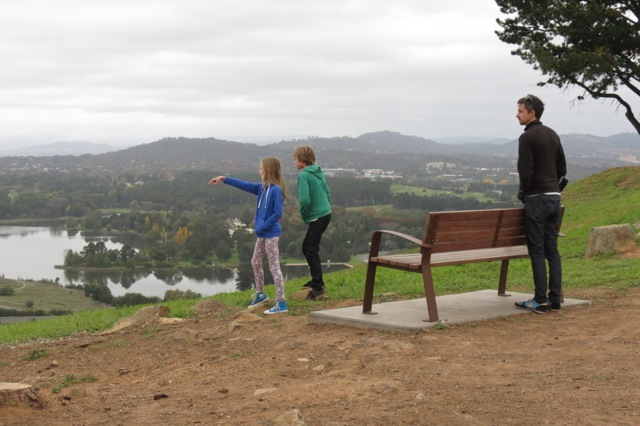 views over Lake Burley Griffen and Canberra