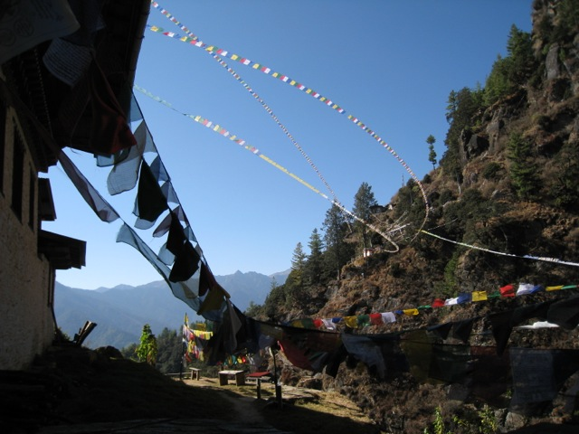 prayer flags, Tigers nest monastery, Bhutan