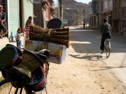 basket seller's bike