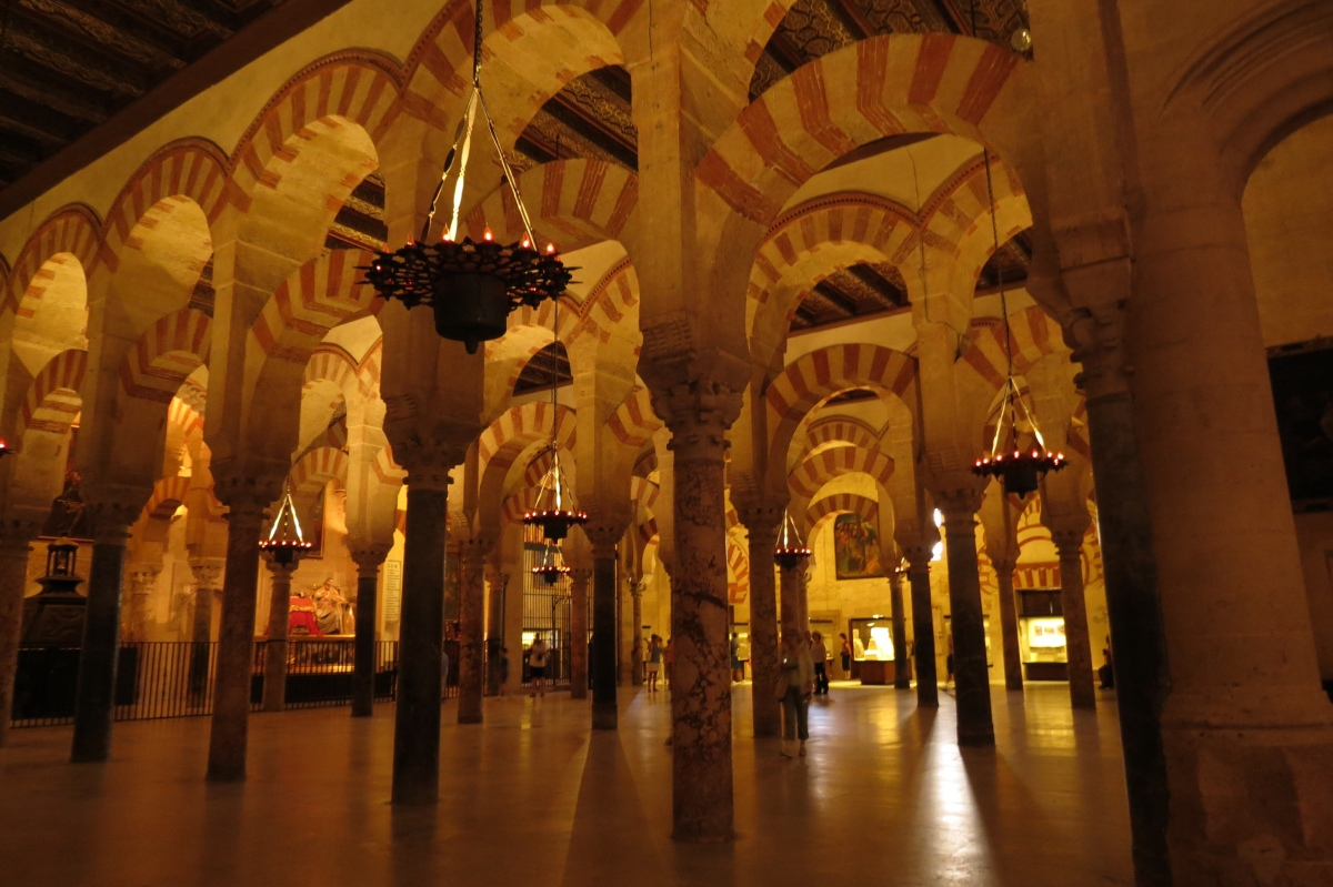 Inside the Mezquita, Cordoba