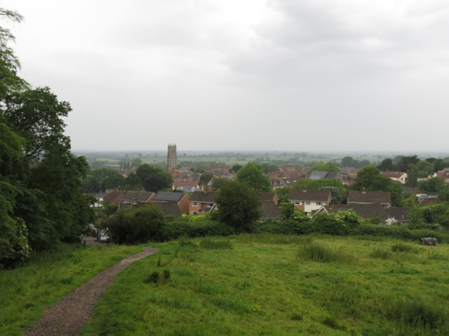 looking back at the village