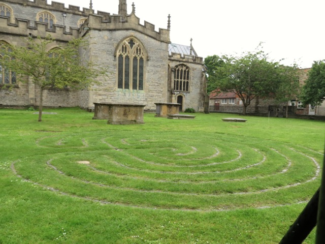 labyrinth in the church ground